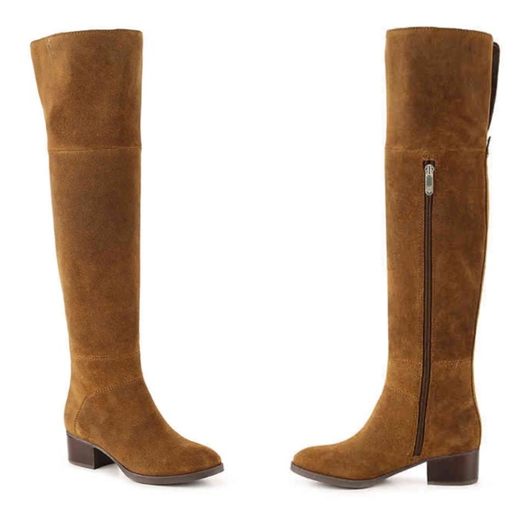 c53ce4ff346d68 Tommy Hilfiger Gianna Brown Over Knee High Boots. M 5bf46579409c1582ab043b5b